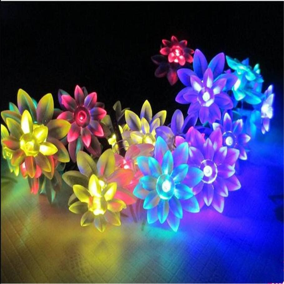Plug In Fairy Lights Led String Lotus 10m 100pcs Light Led And