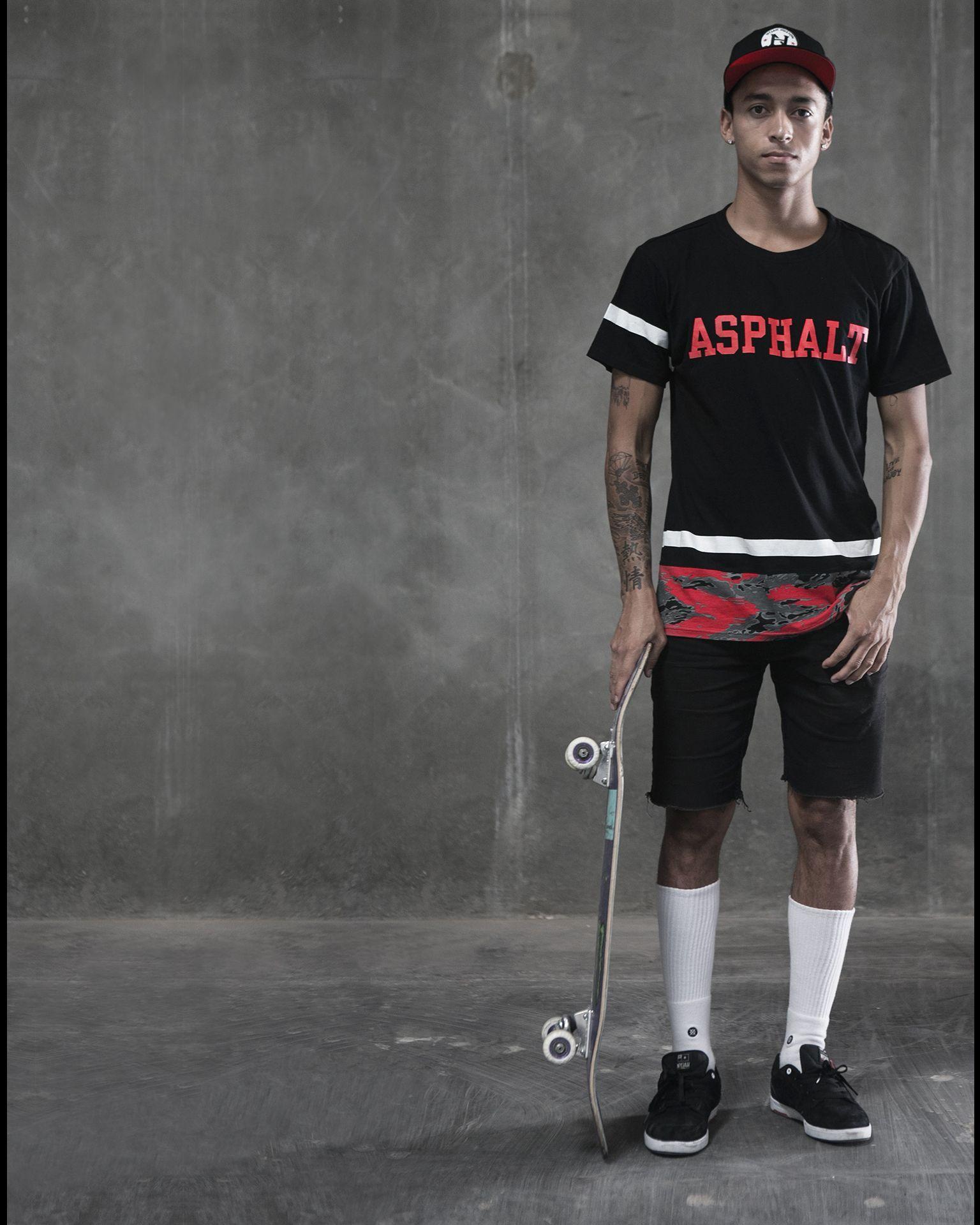 Nyjah huston on street league 2014 sweep new ayc clothing