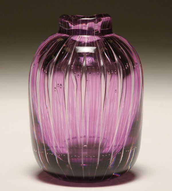 Antique Orrefors Vases Vintage Kosta Boda Orrefors Etched Crystal