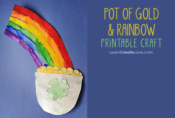 Pot Of Gold Rainbow Craft Rainbow Crafts Printable Crafts Free Printable Crafts