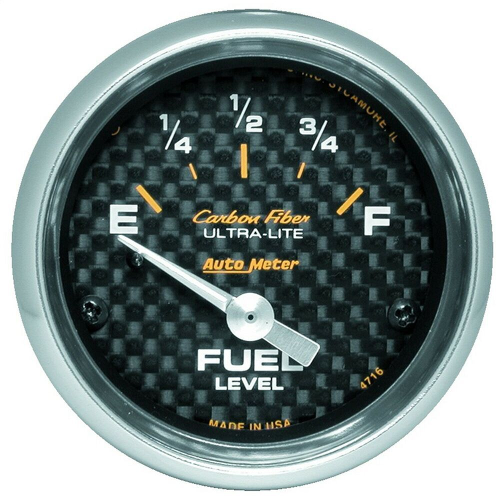 sponsored ebay autometer 4716 carbon fiber electric fuel level gauge [ 1000 x 1000 Pixel ]
