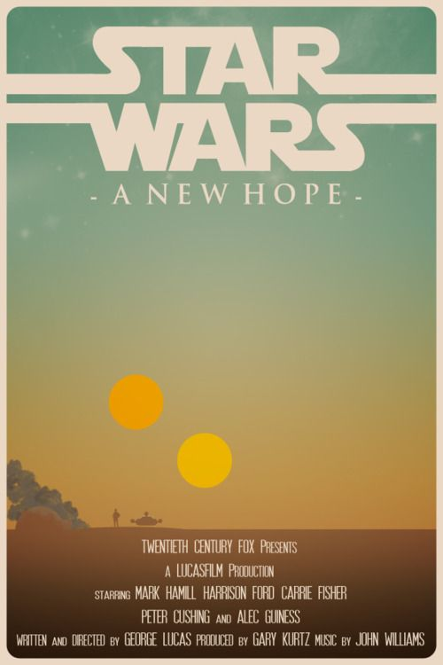 Star Wars: A New Hope by Travis English - Graphic Design - Cinema, film - Minimal movie poster