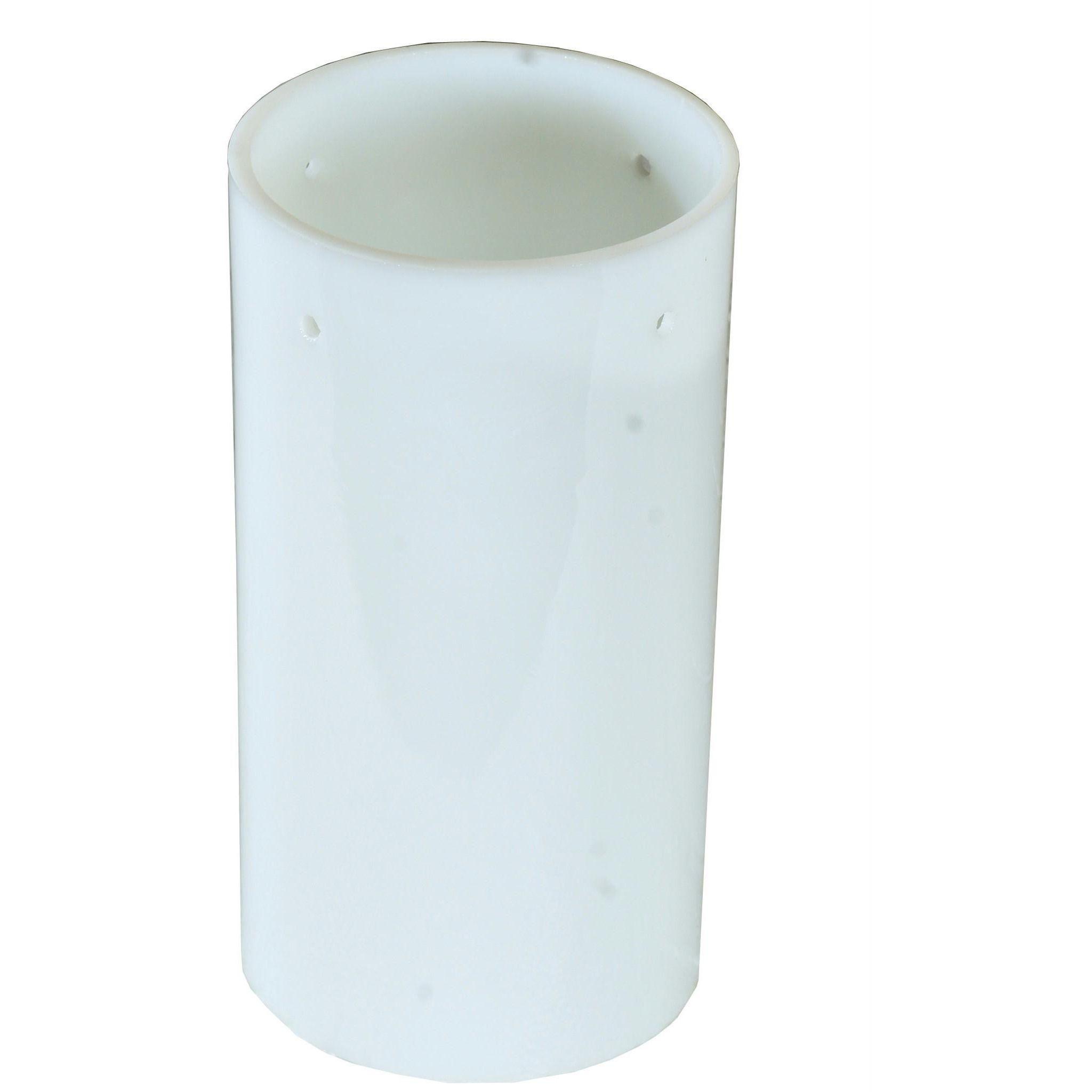 4 Inch W X 7.5 Inch H Cylinder White Shade