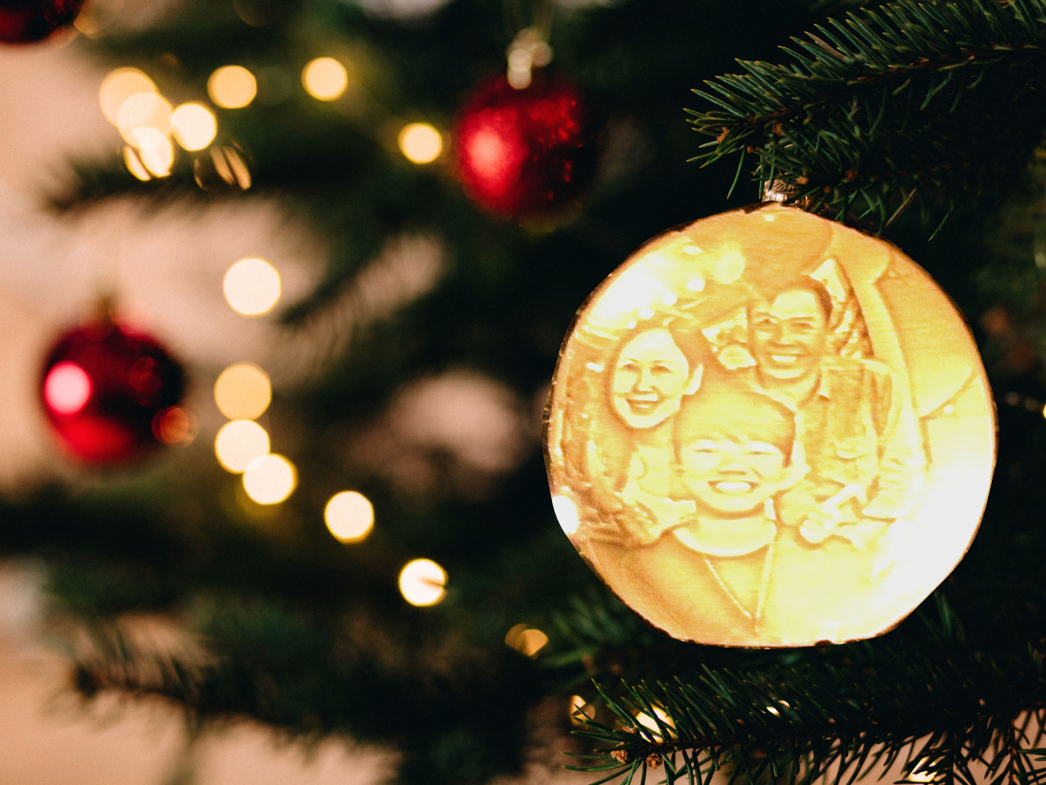 3d Printed Ornament Ball Moon Lamp Personalized With Photo Text Custom Lithophane Led Night Light Cool Christmas Birthday Gift Photo Ornaments Led Night Light Christmas Tree Ornaments