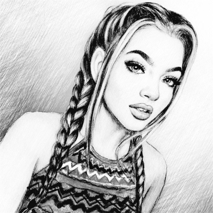 Dessin fille noir et blanc lina en 2019 realistic drawings art drawings et pencil drawings - Dessin swag fille ...
