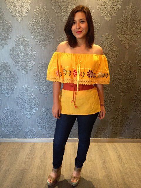 Off Shoulder Mexican Blouse Top Fiesta Mexicana Mexican Party