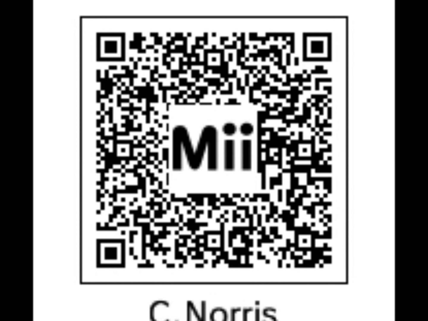 Tomodachi 3DS Miis QR Codes For Life