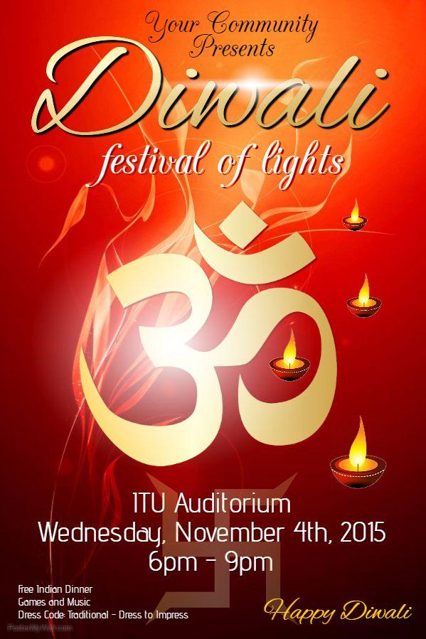 Diwali Flyer Social Media Template Diwali Poster Ideas