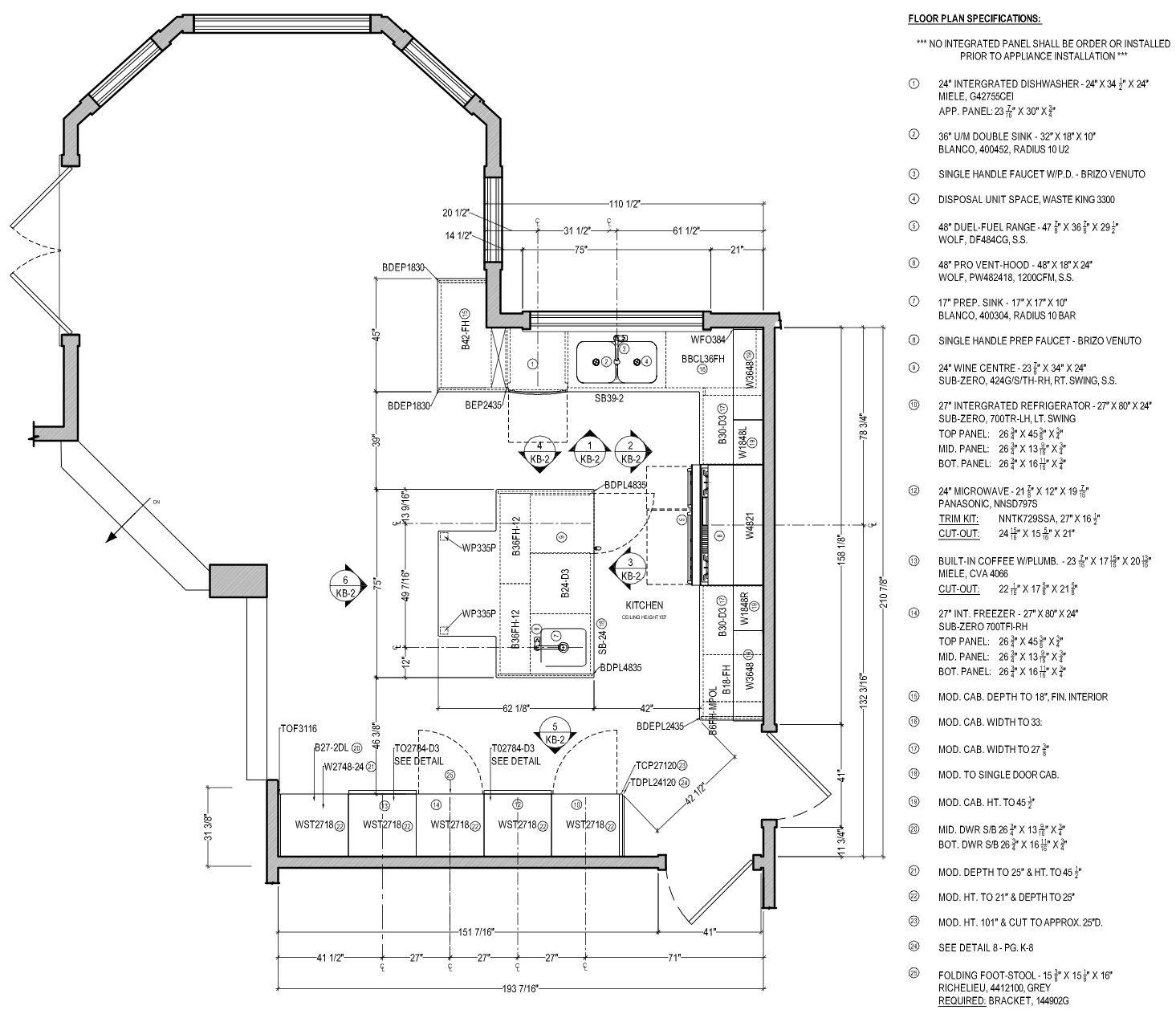 Kitchen Floor Plan Courtesy Corey Klassen Interior Design