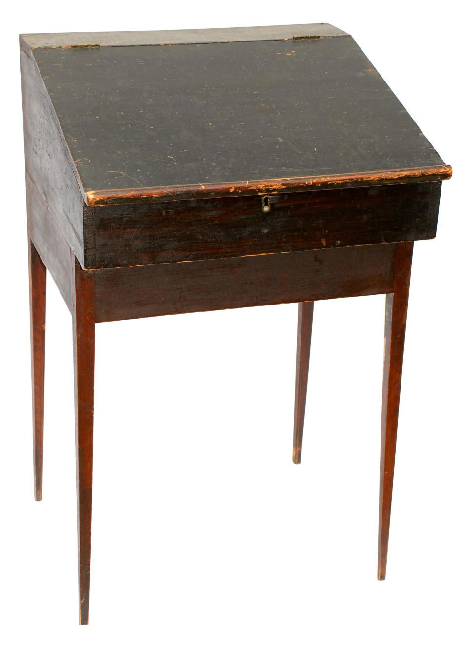Remarkable Standing Writing Desk With Historic Standing Shaker