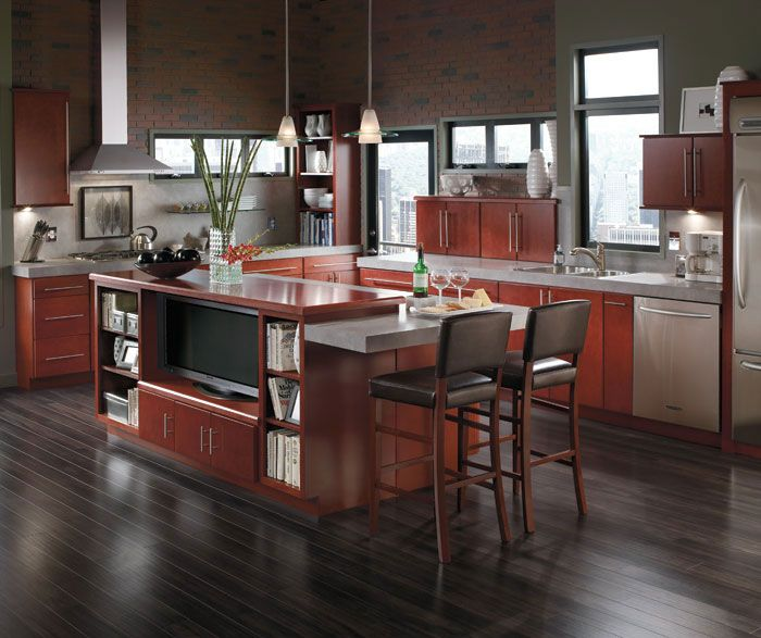Enjoy Loft Living At Its Bestwith Exposed Brick And Warm Wood To Entrancing Contemporary Style Kitchen Cabinets Review