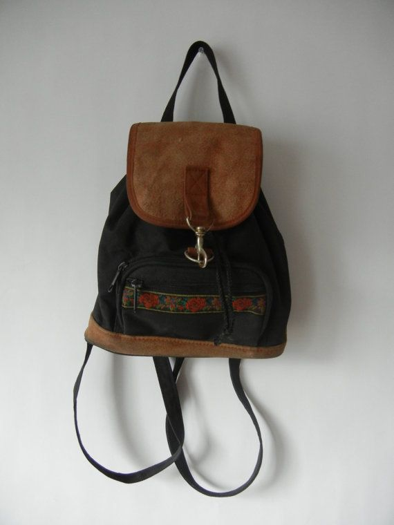 Vintage Mini Backpack 90 s Grunge Tumblr by littleraisinvintage ... 61b5e457a7e9c