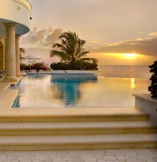 Beach Side Infinity Pool ...An Infinity Edge Pool (also