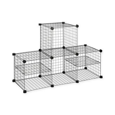 Grid Wire Modular Shelving and Storage Cubes - BedBathandBeyond.com  sc 1 st  Pinterest & Bed Bath u0026 Beyond Grid Wire Modular Shelving and Storage Cubes ...