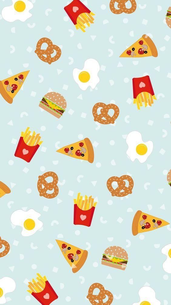 Burger & fries Wallpaper