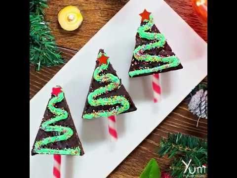 brownie christmas trees brownie christmas trees recipe dessert porn pinterest christmas tree brownies brownies and brown sugar