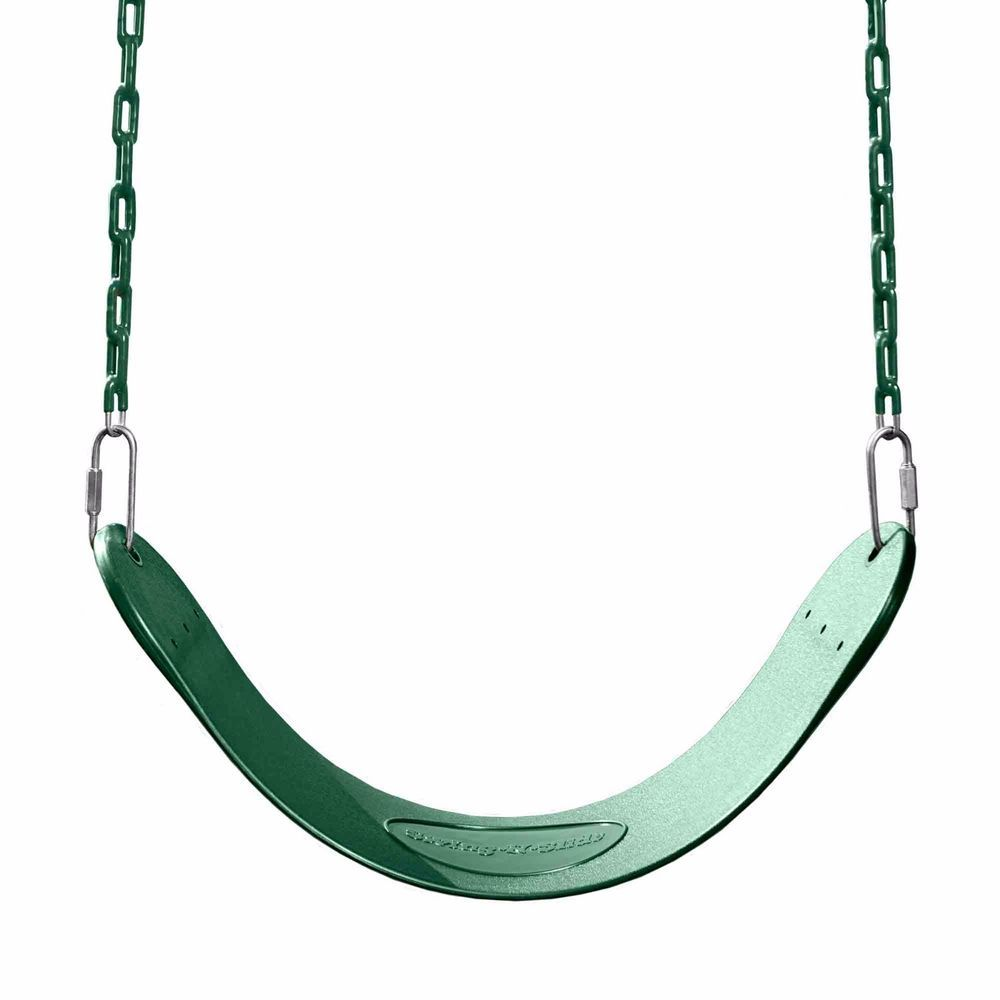 SWINGSET SEAT SWING SET PLAY PLAYGROUND SWINGS KIDS CURVED GREEN ...