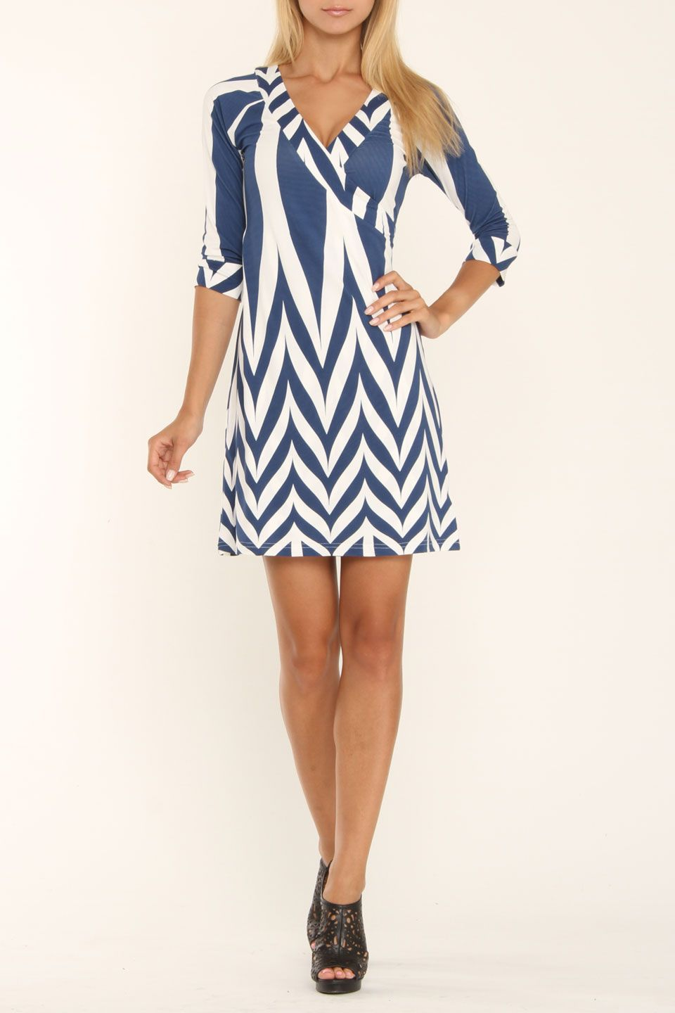 Coco Tashi Sonia Dress In Blue White Beyond The Rack