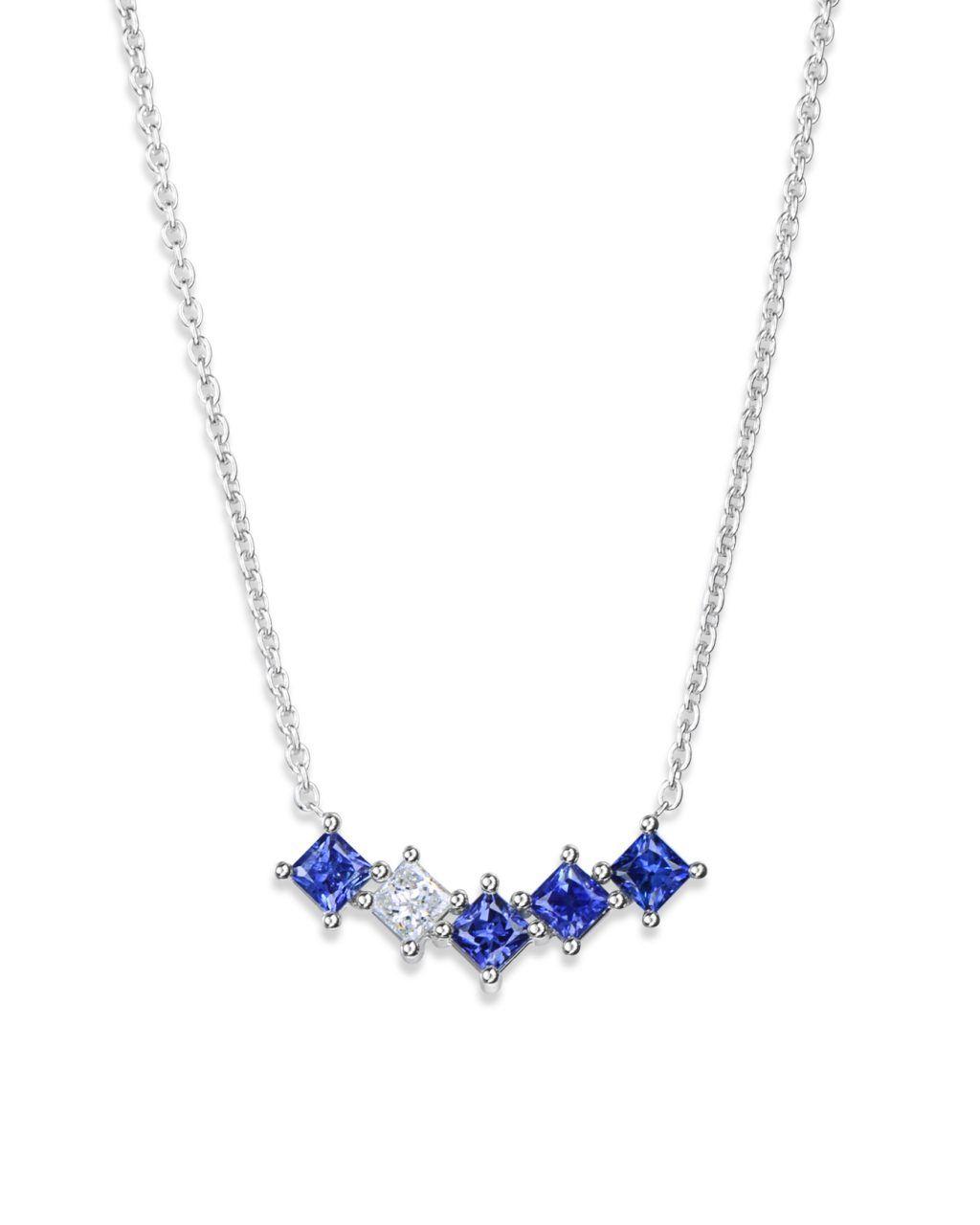bff3252df3170 Prong-Set Sapphire and Diamond Necklace in 2019 | Jewelry Box ...