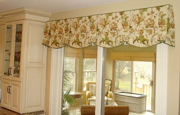 Window Valance Ideas Fl Motif Traditional Style Kitchen Windows Living Room Yellow