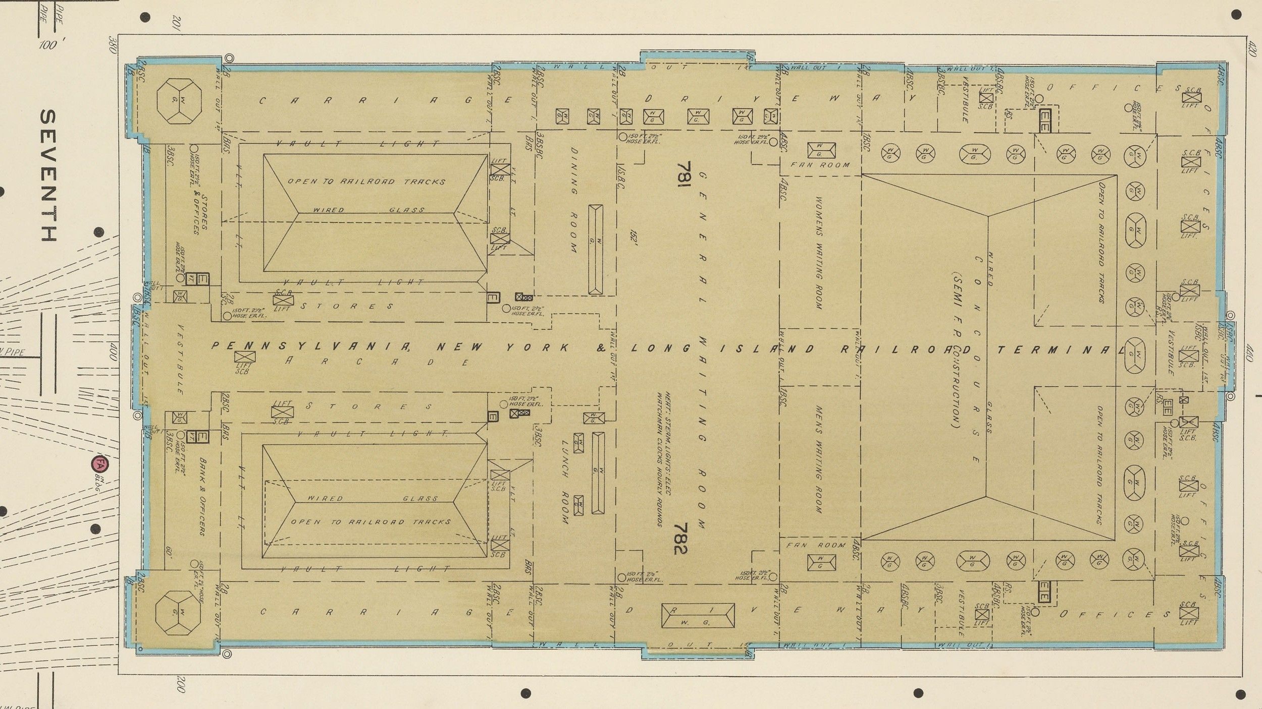 Fascinating Old Maps Of Both Real And Ridiculous NYC Transit Projects - Penn station nyc maps google com