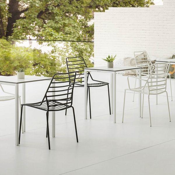 empilable jardin Chaise design de Link en en métal fil 08NnPwXOk