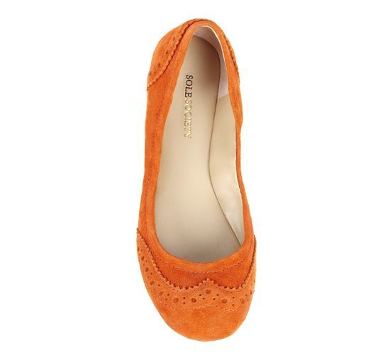 ee526275f06 Orange Slip-On Flats.