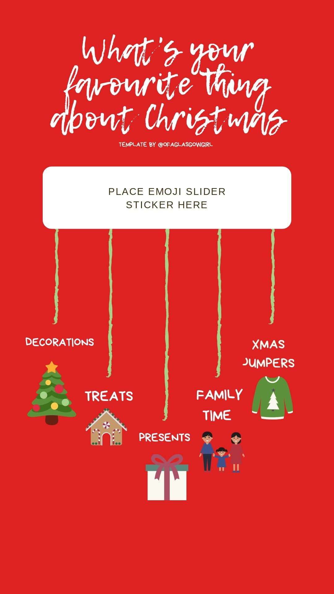 Christmas Instagram story template free to use and gain