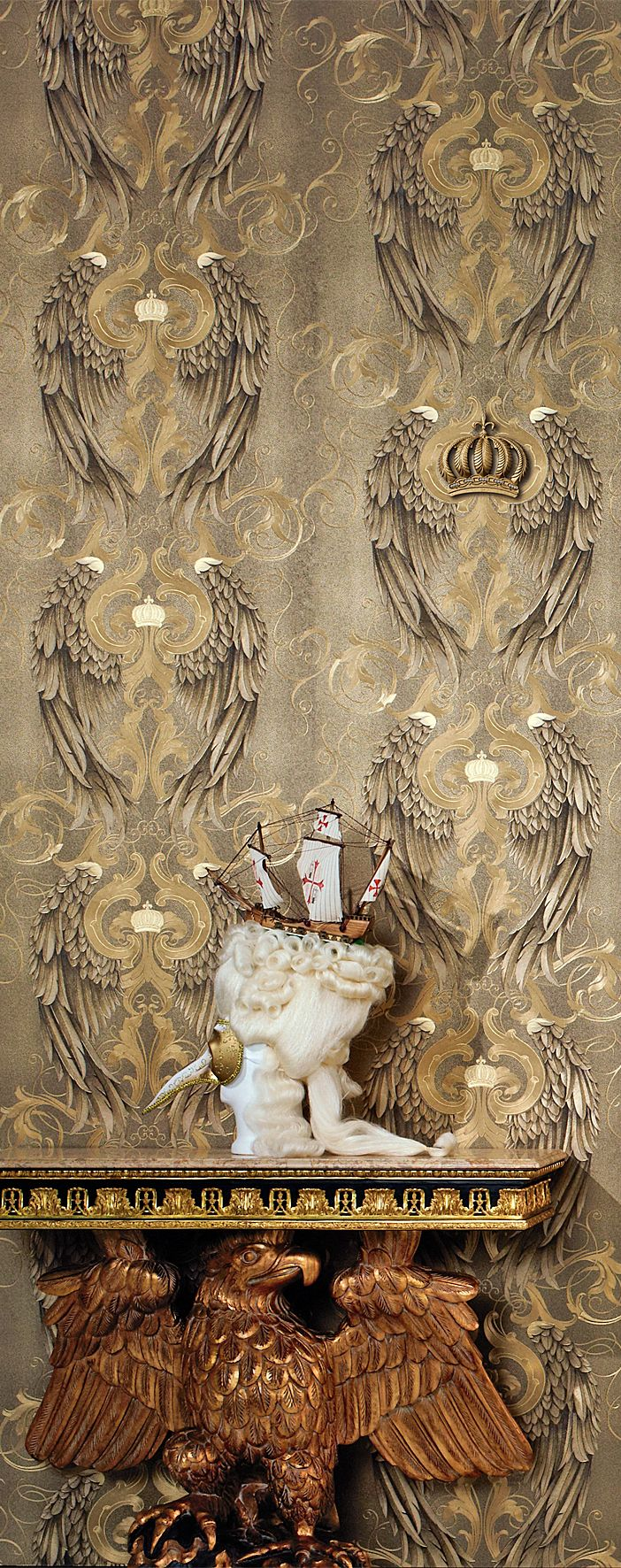 GLOOCKLER ANGEL WINGS Feature wall wallpaper, Angel