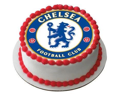 Chelsea Football Club Edible Cake Topper Or Cupcake Topper Decor In 2020 Birthday Cake Toppers Chelsea Football Cake Cake Toppers