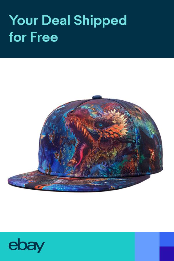 Mens Fashion Vintage Printed Dragon Snapback Baseball Hats Hip Hop Cap Blu Pf Caps Trend Baseball Caps Fashion Baseball Hats