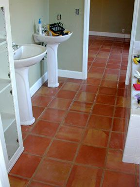 rookie doing a saltillo tile install