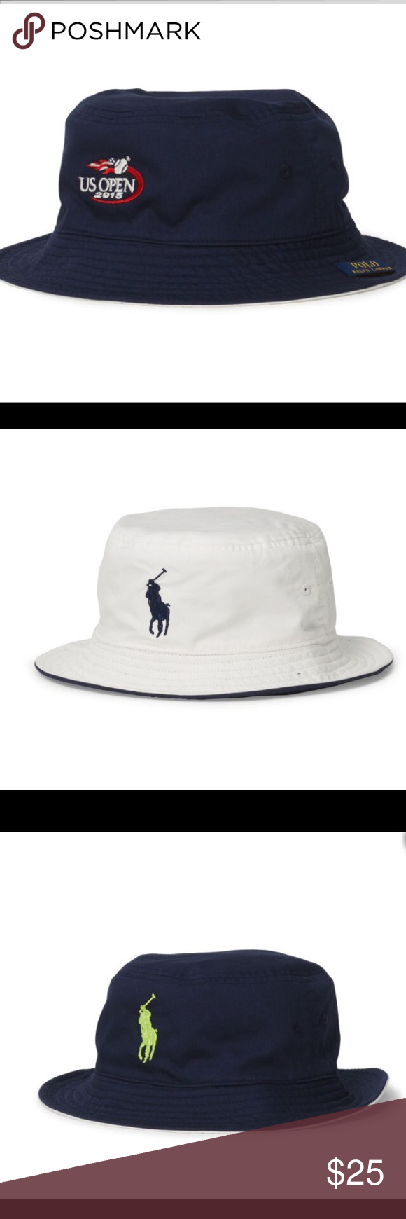 18dac017b03 Polo Ralph Lauren reversible bucket hat U.S. Open A great looking VERY  light REVERSIBLE bucket hat. You can flip it into navy or white colors
