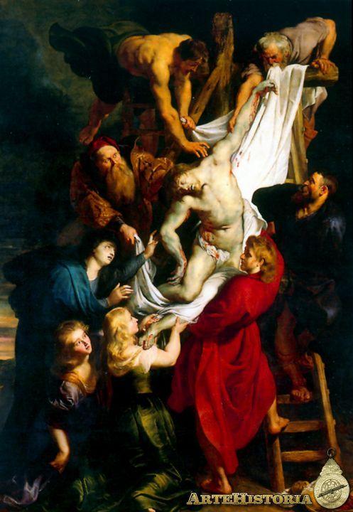 Descendimiento De La Cruz Obra Artehistoria V2 Rubens Paintings Peter Paul Rubens Baroque Art
