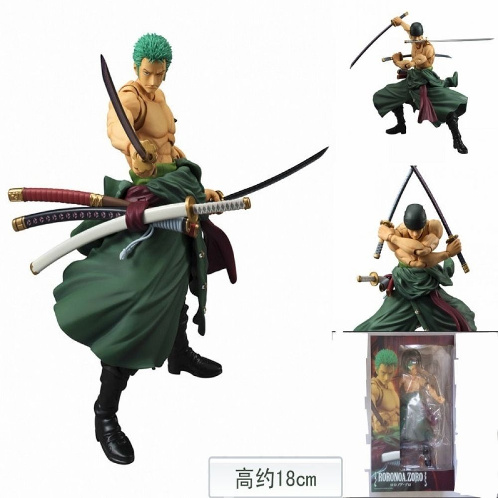 Hot MegaHouse One Piece Roronoa Zoro Action Figure 18cm PVC toy model gift boxed