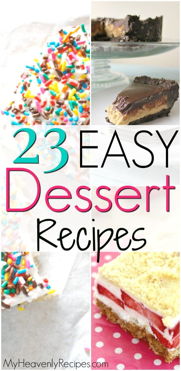 23 Easy Dessert Recipes With Few Ingredients Looking For A No Bake