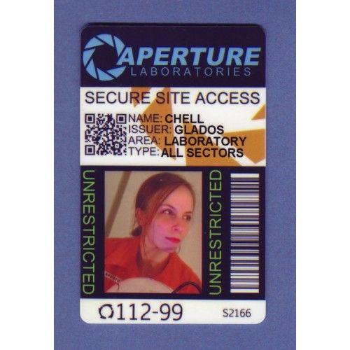 Aperture Laboratories ID Cards Portal