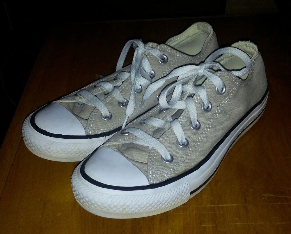 b99a80ac9ae0 Converse Unisex Mens 4 Womens 6 Shoes Sneaker Beige Low Top Chuck Taylor EUC   Converse