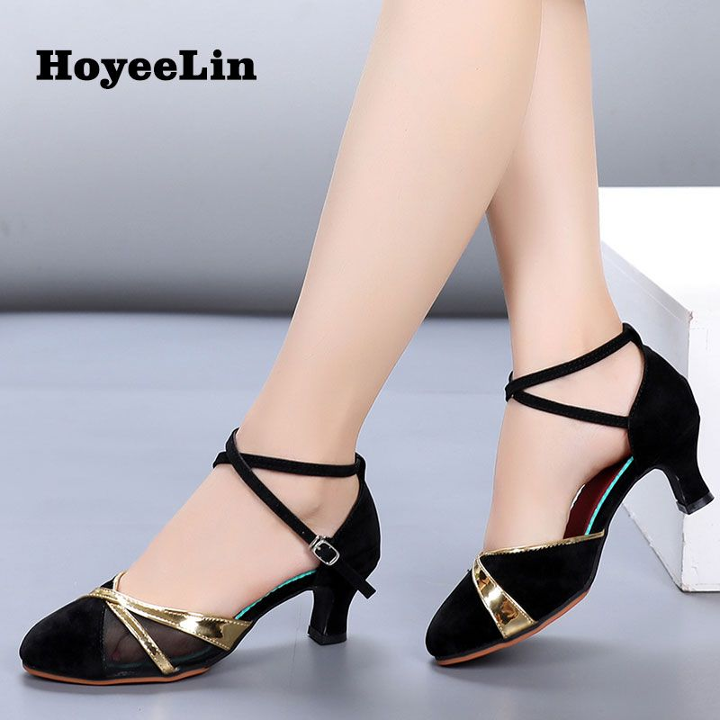 FEETCITY Womens Girs Dance Shoes Practice Low Heel