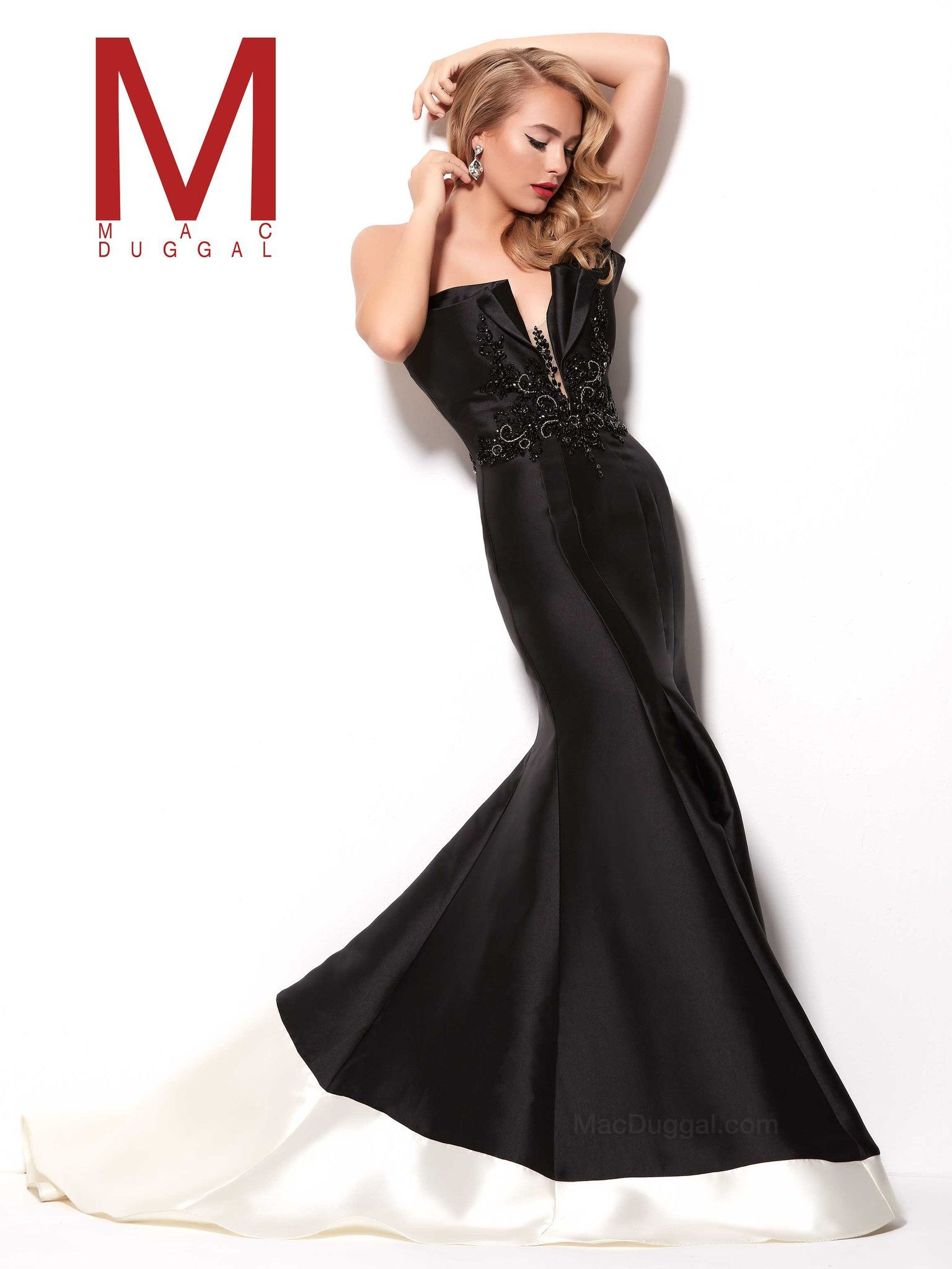 Mac duggal macs black white red and special occasion dresses