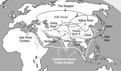 c1w7 Map and quick info for ancient India and China Unit 1 3 | CCC1