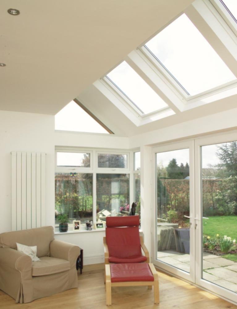 Bungalow Living Room Skylight Ideas