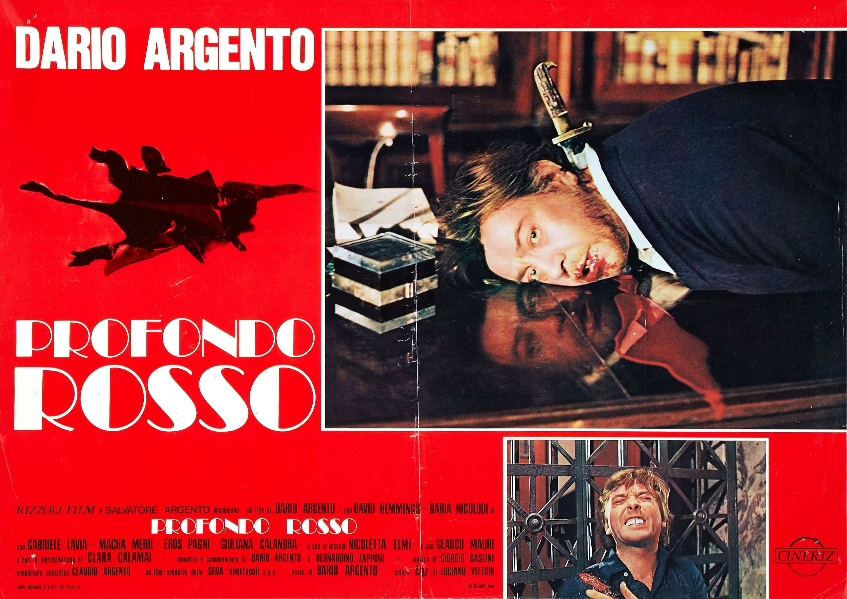 Profondo Rosso Film 1975   Poster for Deep Red (Profondo rosso) (1975, Italy) - Wrong Side of the ...