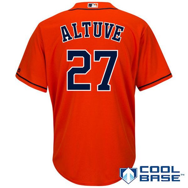 new product ad683 18b9a Men's Houston Astros Jose Altuve Majestic Orange Alternate ...