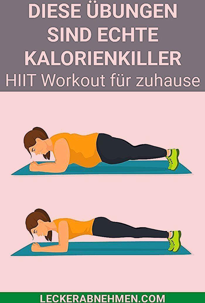 HIIT Übungen und Trainingsplan - Training für zuhause - Gesundheit -  fitness motivation - #fitness...
