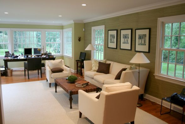 mesmerizing living room office combo ideas | this is nice if i had an office that was big enough to ...