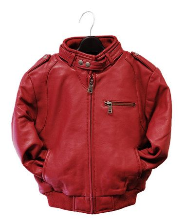 9ddd0390 Love this Red Leather Moto Bomber Jacket - Infant, Toddler & Kids on  #zulily! #zulilyfinds