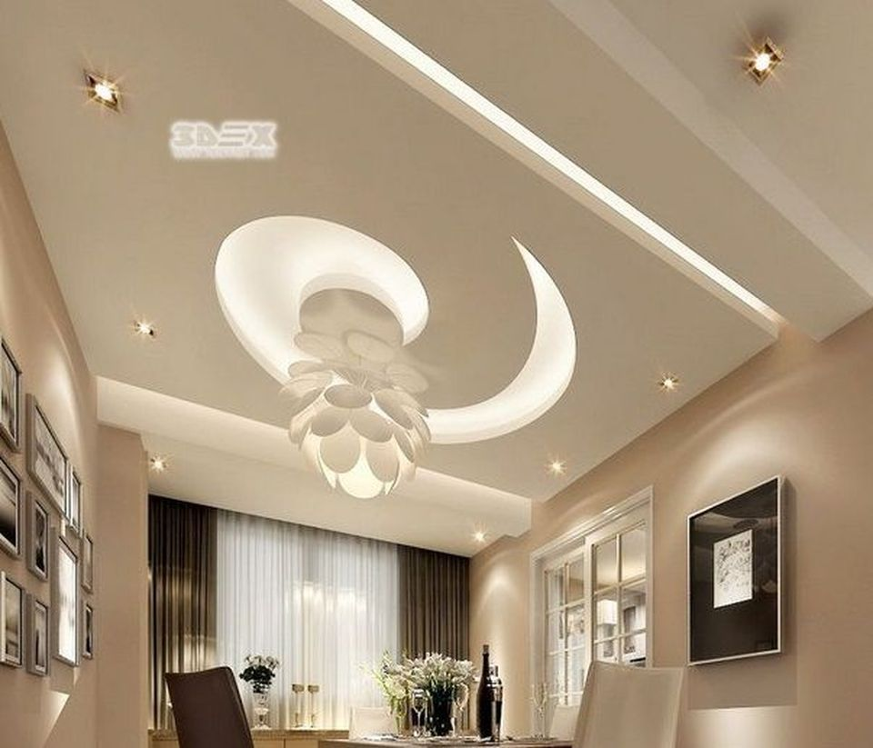 False Ceilings Design With Cove Lighting For Living Room 28