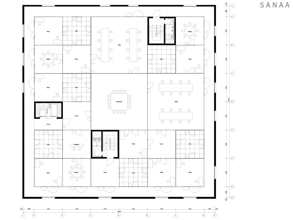 zollverein school arc vis floor plans pinterest. Black Bedroom Furniture Sets. Home Design Ideas