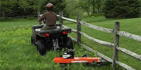DR Tow-Behind Trimmer Mower   Atv. Electric scooter. Scooter custom